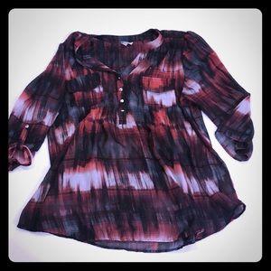 Avenue Sheer Plaid Blouse Plus Size 18/20